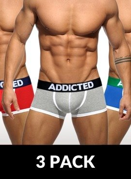 3-pack bokserki męskie Addicted - Three Pack Basic Boxer