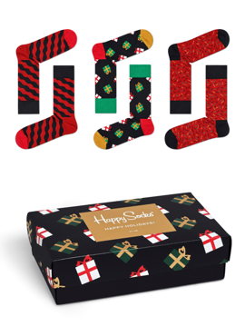 3-pack skarpety z pozytywką Happy Socks - Singing Holiday Socks Gift Box XMAS08-7001