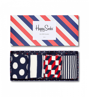 4-pack skarpety Happy Socks - Gift Box Stripe Socks XBDO09-6000