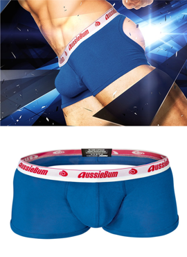 Jockstrap męski Aussiebum - WJ Raw Exposed Hipster Blue