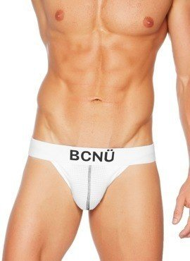 Jockstrap męski BCNÜ - Joey (Push-Up) Sports Jock Strap Basic biały