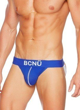 Jockstrap męski BCNÜ - Joey (Push-Up) Sports Jock Strap Basic niebieski
