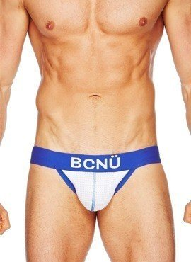 Jockstrap męski BCNÜ - Joey (Push-Up) Sports Jock Strap biały