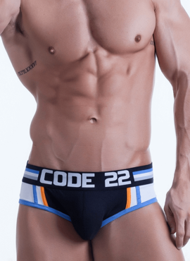 Jockstrap męski Code 22 - Push-Up Bottomless czarny