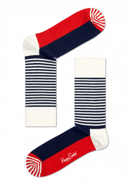 Skarpety Happy Socks - Half Stripe Sock SH01-068