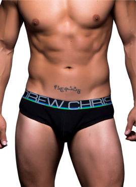 Slipy męskie Andrew Christian - Show-It Tagless Retro Pop Brief czarne