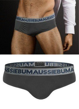 Slipy męskie Aussiebum - FeatherLite Brief Grey szare