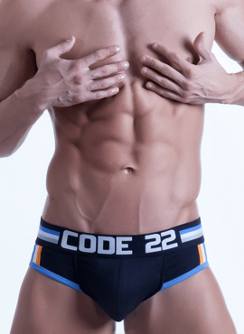 Slipy męskie Code 22 - Push-Up Brief czarne