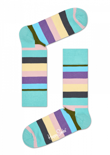 4-pack skarpety Happy Socks - Gift Box Stripe Socks XSTR09-7000