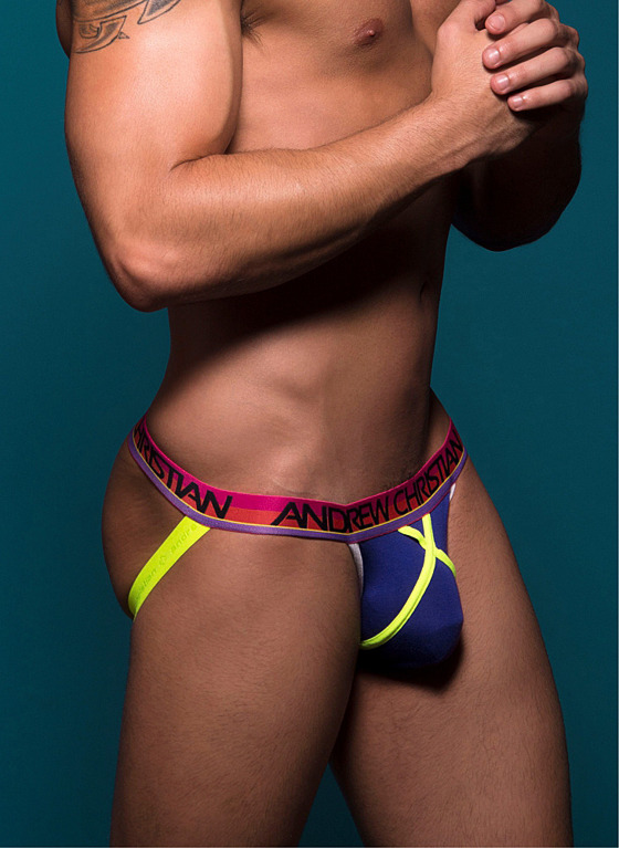 Jockstrap Andrew Christian - Almost Naked Dare Jock fioletowy