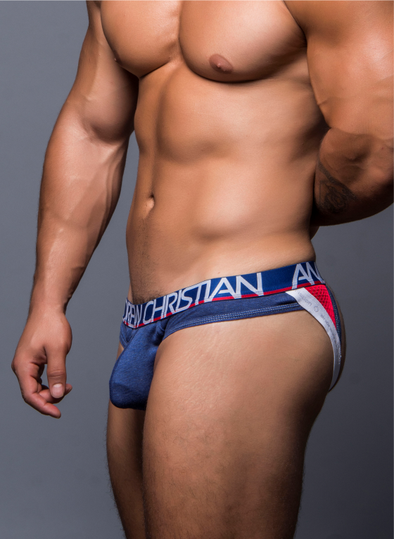 Jockstrap męski Andrew Christian - Show-It Cotton Stretch Active Jock