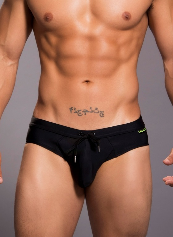 Kąpielówki męskie Andrew Christian - Black Collection Bellport Bikini