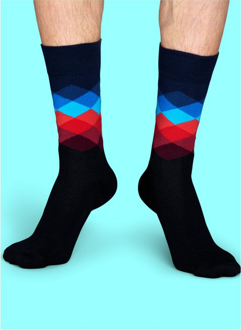 Skarpety Happy Socks - Faded Diamond Sock FD01-069
