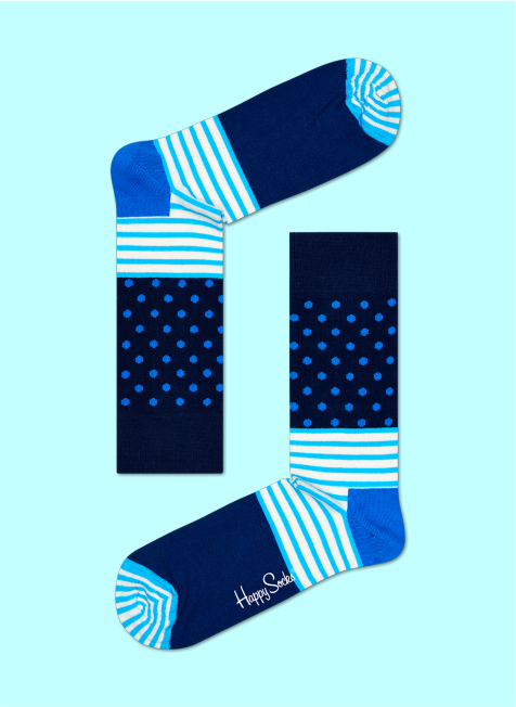 Skarpety Unisex Stripe Dot Happy Socks - SD01-066