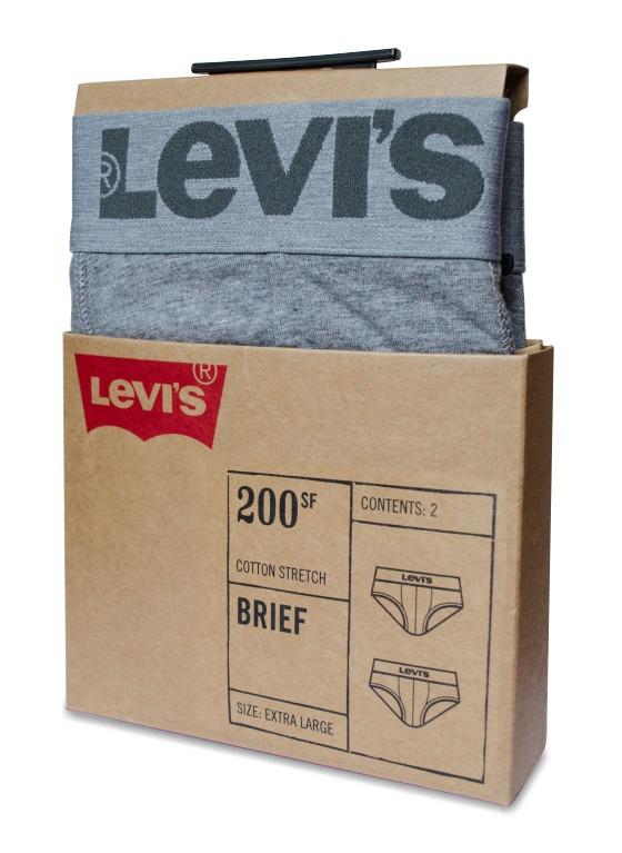 Slipy Levi's - 2 Pack 200SF szare