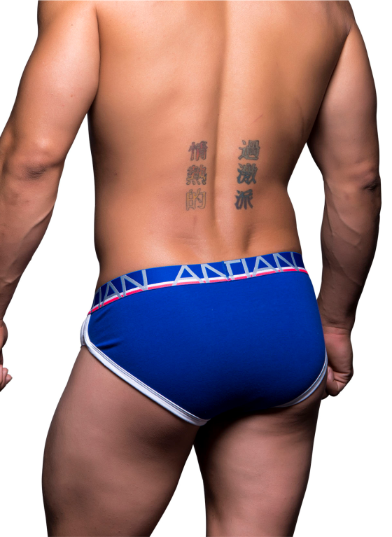 Slipy męskie Andrew Christian - Show-It Tagless Retro Pop Brief niebieskie