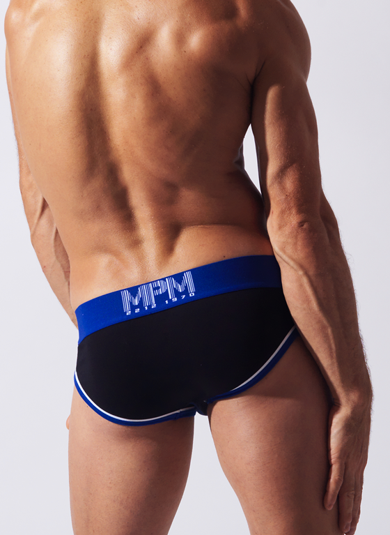 Slipy męskie Code 22 - Double Seam Brief czarne