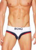 Jockstrap męski BCNÜ -  Rollick (Backless) Brief biały