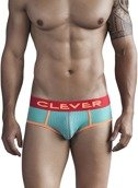 Slipy męskie Clever Moda - Sounds Of Machu Picchu Piping Brief zielone