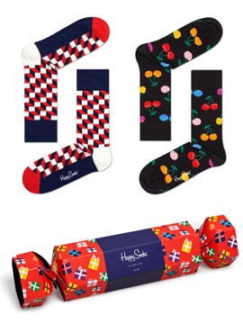 2-PACK SKARPETY HAPPY SOCKS - CRACKER 2PACK GIFTBOX SXPOL02-4300
