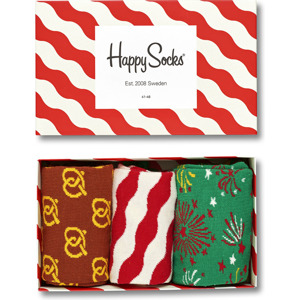 3-PACK SKARPETY HAPPY SOCKS - GIFT BOX XMAS08-4001