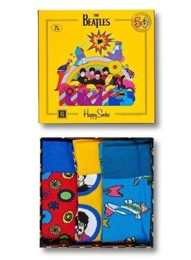 3-PACK SKARPETY HAPPY SOCKS - THE BEATLES SOCKS BOX SET XBEA08-2000