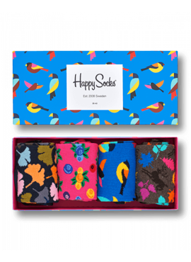 4-PACK SKARPETY HAPPY SOCKS - FOREFT GIFTBOX XFOR09-8000