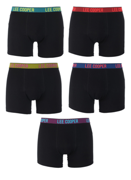 5-PACK BOKSERKI MĘSKIE LEE COOPER - MIX 3 KRATKA