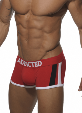BOKSERKI MĘSKIE ADDICTED - AD158 PACK UP BOXER RED