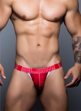 Jockstrap męski Andrew Christian -  BLOW! Cotton Stretch Jock czerwony