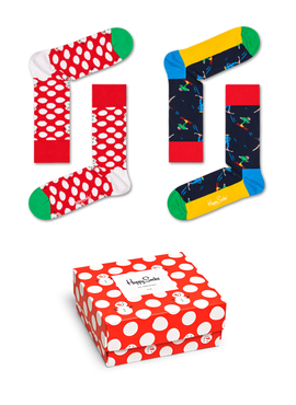 SKARPETY 2-PACK HAPPY SOCKS - GIFTBOX XBDO02-4300