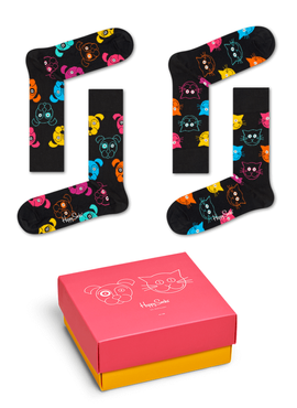 SKARPETY 2-PACK HAPPY SOCKS - GIFTBOX XDOG02-9300