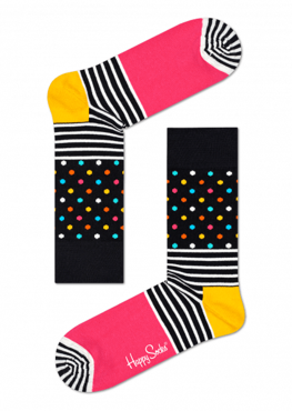 SKARPETY HAPPY SOCKS - STRIPES & DOTS SOCK SDO01-9000
