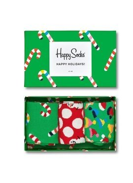 SKERPETY 3-PACK HAPPY SOCKS - GIFTBOX  HOLIDAY XMAS08-7005