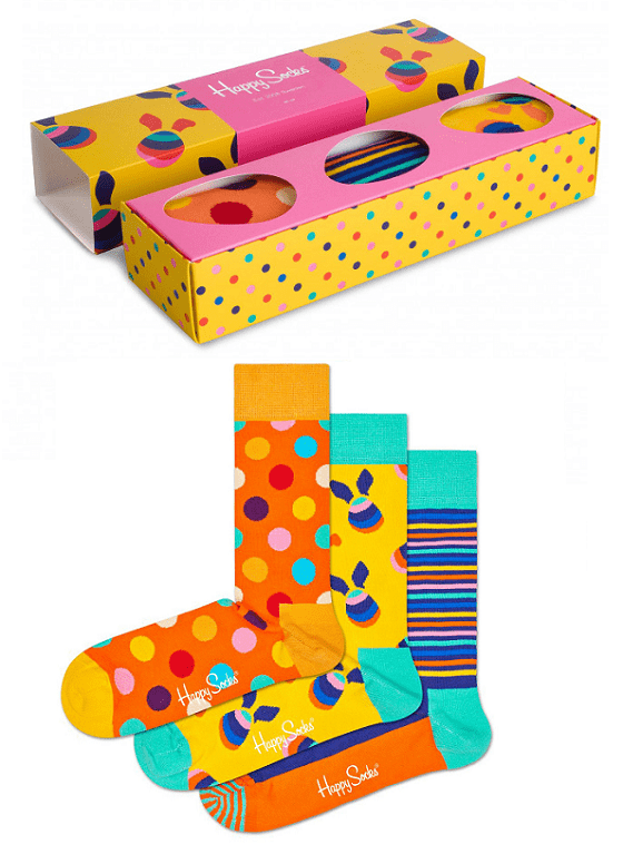 3-PACK SKARPETY HAPPY SOCKS - GIFT BOX EASTER XEAST08-2700