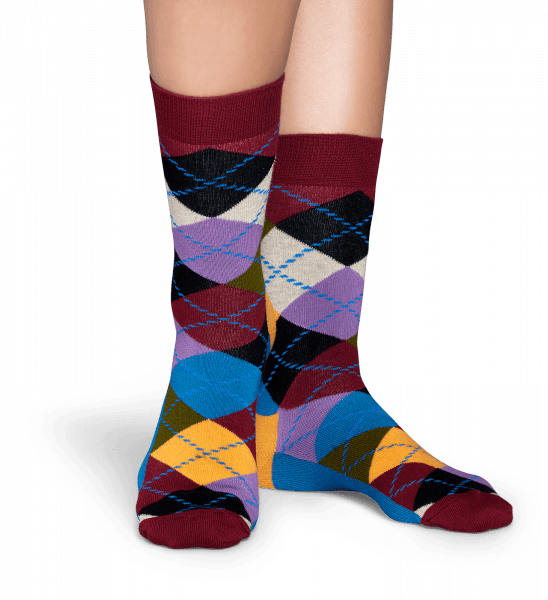 SKARPETY HAPPY SOCKS - ARGYLE SOCK ARY01-048