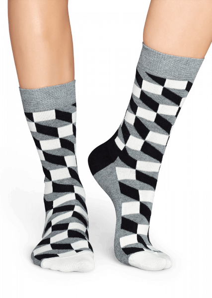 SKARPETY HAPPY SOCKS - FILLED OPTIC SOCK FO01-901