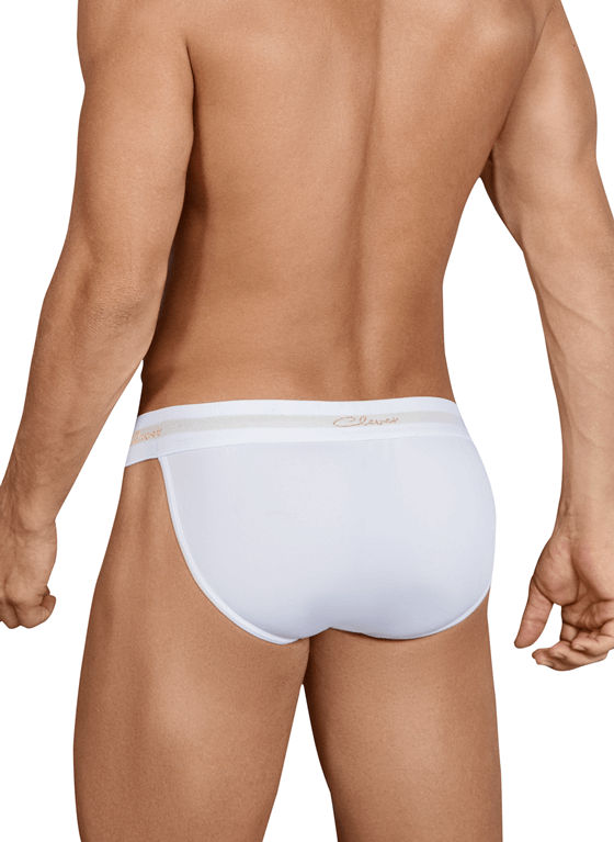 SLIPY MĘSKIE CLEVER MODA - EDENTITY BRIEF WHITE