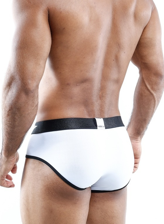 SLIPYI MĘSKIE AGACIO - AGJ004 BRIEF WHITE