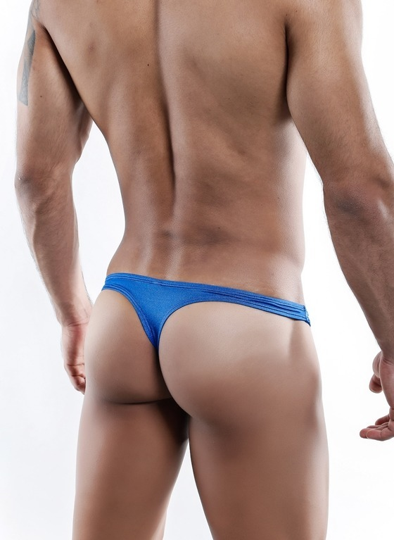 STRINGI MĘSKIE COVER MALE -  CMK025 THONG ROYAL BLUE