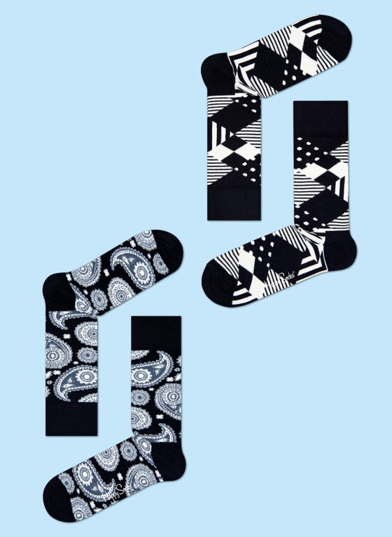 SKARPETY 4-PACK HAPPY SOCKS - GIFT BOX XPA09-099