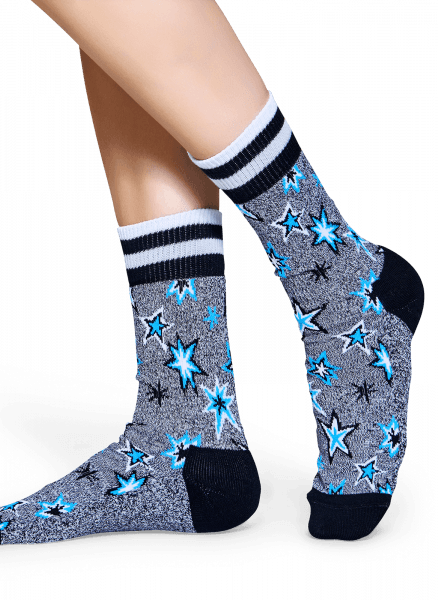 SKARPETY HAPPY SOCKS - ATHLETIC BANG BANG SOCK ATBAN27-9000