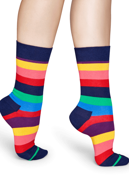 SKARPETY HAPPY SOCKS - STRIPE SOCK STR01-6001