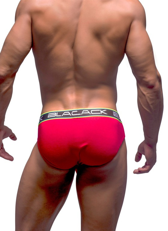 Slipy Andrew Christian - Black Collection Brief czerwone
