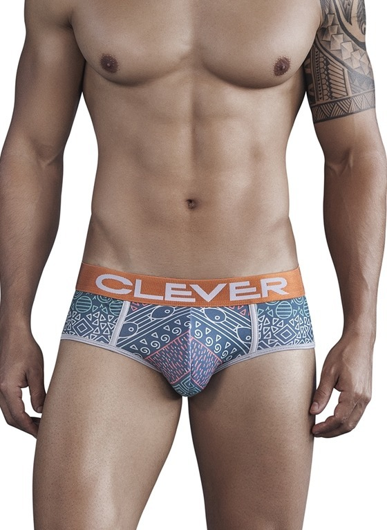 SLIPY MĘSKIE CLEVER MODA - BANTU PIPING BRIEF ZIELONE