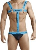 HARNESS / STRINGI MĘSKIE PIKANTE - ATTRACTION HERNESS THONG BLUE