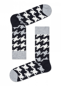 SKARPETY HAPPY SOCKS - DOGTOOTH SOCK DGT01-9000